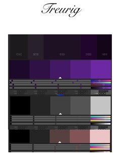 """Fase 2 : Kleurenpaletten voor het gevoel """"treurig"""""""