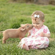 "A smooch from a pig is called a ""smoink"". Precious Children, Beautiful Children, Beautiful Babies, Animals Beautiful, Animals For Kids, Cute Baby Animals, Animals And Pets, Funny Animals, Cute Baby Pictures"