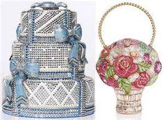 Judith Leiber bridal bags cake flowers basket