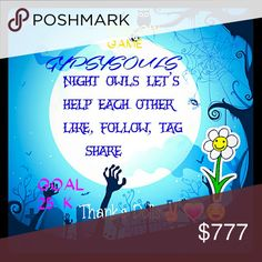 Follow Game Like, Follow, Tag 5 Posh Friends. Im trying to reach my next goal of 25k.... I WILL RANDOMLY PICK 1 WINNER TO WIN $25 GYPSY COINS to apply to any purchase in my closet. 8/17.... Good luck and thank you. I will also share 5 items from your closet. Accessories
