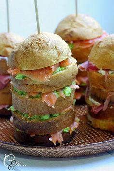 Cucinando e assaggiando...: Mini Panettoni salati farciti.... antipasto per Capodanno