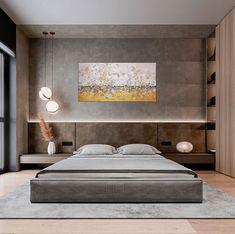 Cozy apartment on behance. Modern Luxury Bedroom, Master Bedroom Interior, Luxury Bedroom Design, Room Design Bedroom, Modern Master Bedroom, Bedroom Furniture Design, Home Room Design, Minimalist Bedroom, Luxurious Bedrooms
