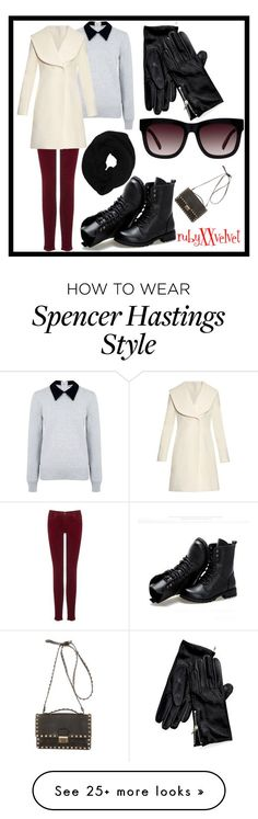 """""""Spencer Hastings """" by rubyxxvelvet on Polyvore featuring AG Adriano Goldschmied, Edit, J.W. Anderson, Sunsteps, Tommy Hilfiger, Wyatt and Valentino"""