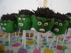 hulk cakepops