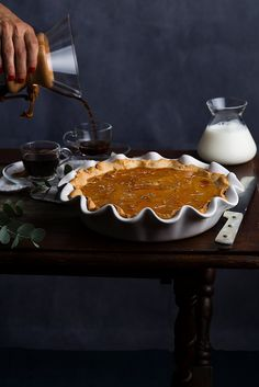 receta de tarta de leche de Jamie Oliver Jamie Oliver, Pop Up Restaurant, Cake Shop, Pie Dish, Deli, Biscuits, Pudding, Sweets, Baking