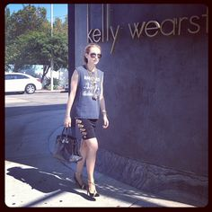 Visiting the store in head to toe vintage with some layered chains from my fall collection mixed in. Xk - @kellywearstler- #webstagram