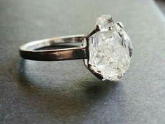 #raw #diamond #ring