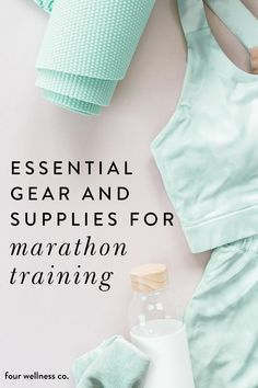 Essential Gear and Supplies for Marathon Training | Running Tips for Beginners | Are you starting a running plan and aiming to complete a marathon? Click for my favorite and most helpful marathon training equipment including the best running shoes, performance socks, stingers, gels, chews and more to keep you nourished, bluster free and full of energy. | Marathon Training | Running Supplies | Four Wellness Co. #runningsupplies #marathonsupplies #marathontrainingforbeginners…
