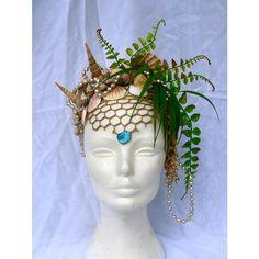 Headdress Of The Ocean Goddess, Mermaid Queen, Mermaid Crown, Finnish Design Costume Makeup, Cosplay Costumes, Halloween Costumes, Siren Costume, Project Mermaid, Mermaid Cosplay, Mermaid Outfit, Mermaid Crown, Mermaid Headpiece
