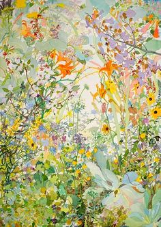 Joan Becker, Spring Watercolor, 40 x 30 Art And Illustration, Illustrations, Art Floral, Floral Prints, Watercolor Flowers, Watercolor Art, Watercolor Portraits, Watercolor Landscape, The Draw