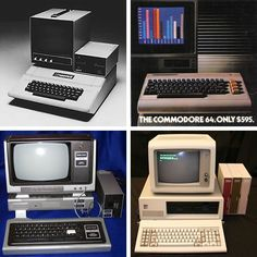 1980s-era computers: Apple //, Commodore 64, TRS-80 and IBM PC. ||| SQLPHP.COM Software Development Denmark - special SEO Technologie Strategy Programming Development - 20+ years business software development - PHP MySQL Database Experts - sqlphp.com - sqlphp.dk - sqlphp.de - sqlphp.at - sqlphp.ch