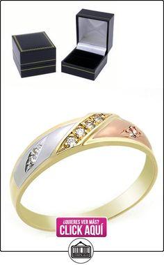 Pequeños Tesoros - Anillo de hombre - Anillo de compromiso y boda de oro 0.1ct Circonita  ✿ Joyas para hombres especiales - lujo ✿ ▬► Ver oferta: http://comprar.io/goto/B00BFX8YZY