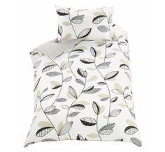 Classy Leaves Bedding Set (Duvet Cover With Pillow Case) Reversible Elegant Stripes - Single. duvet set http://www.amazon.co.uk/dp/B01B633GUK/ref=cm_sw_r_pi_dp_BvLWwb0NJE6BF