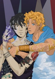"""ace-artemis-fanartist: """" A The Wicked + The Divine HoO au. Where our heroes are the reincarnations of their parents. Ho boy, if that was written by Kieron Gillen, our poor hearts. McKelvie's art would be awesome, though.Piper here. Percy Jackson Ships, Percy Jackson Fan Art, Percy Jackson Fandom, Solangelo Fanart, Percabeth, Rick Riordan Series, Rick Riordan Books, Magnus Chase, Son Of Hades"""