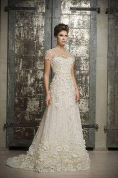 Enaura Bridal Couture floral plus size wedding dress