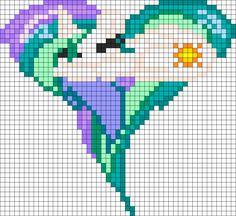 My Little Pony Sleeping Heart Princess Celestia perler bead pattern