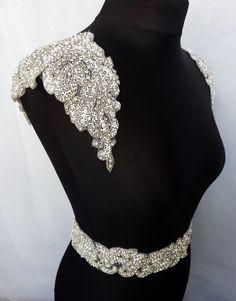 1 pair shoulders Luxury applique Shoulder by MagnificenceBridal Unique Fashion, Fashion Details, Luxury Fashion, Womens Fashion, Shoulder Jewelry, Shoulder Necklace, Wedding Dress Sleeves, Wedding Dresses, Mode Unique