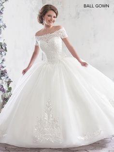 1c9161ef670 Ball Wedding Dress Tulle Lace Applique Off Shoulder Princess Corset Bridal  Gown
