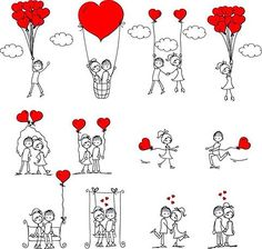 Find Valentine Doodle Boy Girl Vector stock images in HD and millions of other royalty-free stock photos, illustrations and vectors in the Shutterstock collection. Valentine Doodle, Valentines Day, Stick Figures, Love People, Doodle Art, Painted Rocks, Coloring Pages, Boy Or Girl, How To Draw Hands