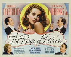"""A slightly screwball comedy I enjoy over and over. """"Window"""" scene is the best.  Danielle Darrieux as Nicole de Cortillon; Douglas Fairbanks Jr. as James 'Jim' Trevor;  Mischa Auer as Mike Lebedovich;  Louis Hayward as Bill Duncan;  Helen Broderick as Gloria Patterson;  Charles Coleman as Wrigley, Trevor's Butler."""