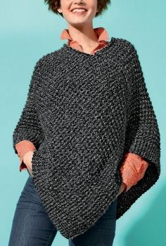 knitting pattern for unicorn scarf knitting patterns free easy easy knitting patterns for beginners baby blanket Poncho Crochet, Poncho Knitting Patterns, Loom Knitting, Easy Knitting, Ladies Dress Design, Knitwear, Clothes For Women, Women's Vests, Check