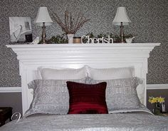 how to make a headboard out of a mantel, bedroom ideas, repurposing upcycling