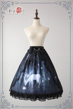 Imagine & Spectacle -The Mysterious Deer Under The Moonlight- Lolita JSK, Skirt and Match Overskirt