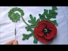 Irish Crochet Tutorial, Irish Crochet Patterns, Crochet Symbols, Granny Square Crochet Pattern, Freeform Crochet, Crochet Art, Crochet Motif, Crochet Stitches, Fabric Flower Brooch