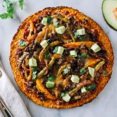 This week's vegetarian and gluten-free meal plan includes: tempeh tacos; Mexican-style pizza with sweet potato crust; and pizza quinoa stuffed portabella mushrooms. Gluten Free Meal Plan, Gluten Free Vegetarian Recipes, Free Meal Plans, Healthy Recipes, Top Recipes, Vegetarian Pho, Sweet Potato Pizza Crust, Pesto Grilled Cheeses, Recipes