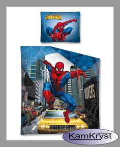 SpiderMan Bedding - bedding pattern Taxi 140x200 | Pościel SpiderMan - wzór pościeli Taxi 140x200 #spider_man_bedding #spiderman_bedding