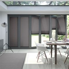 9 Stunning Tips: Diy Blinds Door blue bedroom blinds.Vertical Blinds Design roll up blinds window treatments.Living Room Blinds No Sew. Blinds For Bifold Doors, Patio Door Blinds, Outdoor Blinds, House Blinds, Blinds For Windows, Shutter Blinds, Bifold Doors Extension, Bifold Doors Onto Patio, White Bifold Doors