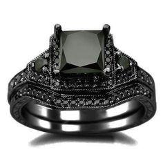 Black Diamond Engagement Wedding Ring Sets 55 Inspirational Women us onyx engagement