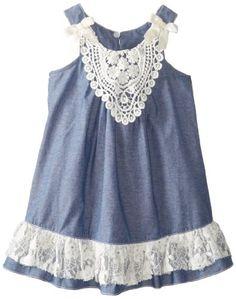 Bonnie Jean Girls 2-6X Chambray Trapeze Dress, Blue, 2T Bonnie Jean http://www.amazon.com/dp/B00HD94O4O/ref=cm_sw_r_pi_dp_J2PMtb1V5ZJ28SJH