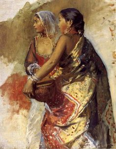 Two Nautch Girls, Sketch - Edwin Lord Weeks (1849 – 1903)