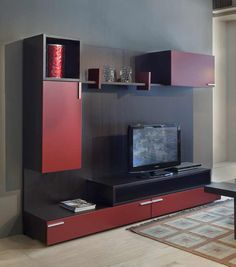 1000 images about tv muebles on pinterest tv furniture - Tv en la pared ...