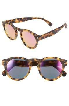 Free shipping and returns on Illesteva 'Leonard' 47mm Sunglasses at Nordstrom.com. A bold keyhole bridge extends the eclectic charm of rounded, retro-inspired sunglasses with mirrored lenses.