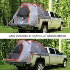 Truck Bed Camping, Truck Tent, Tent Camping, Camping Ideas, Glamping, Small Campers For Sale, Fish Camp, Pick Up, Pickup Trucks