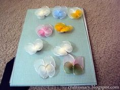 (LL) Making Nylon Butterflies from Panty Hose  By Craftionary