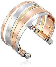"BCBGeneration Tri-Tone Cuff Bracelet, 6"" - CHECK IT OUT @ http://www.finejewelry4u.com/jew/103296/150720"