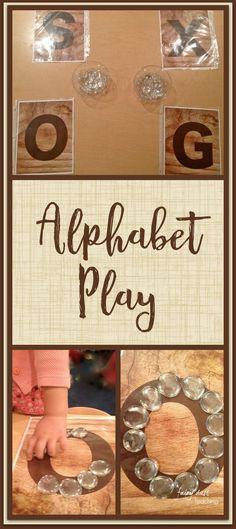 Alphabet Play with FREE Printable! - Fairy Dust Teaching