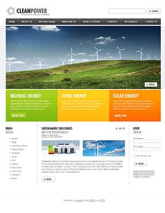 Clean Power Joomla Templates by Hugo