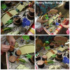 Mummy Musings and Mayhem: Tropical Island Small World Sensory Fun!