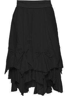 black *pointed* pixie skirt <3
