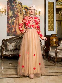 b1528abfa3 Kugu Evening Dress - Salmon - Dilek Koroglu Gaun Muslim