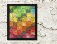 Whimsical Fine Art Print, Checkered Rainbow Wall Art, Contemporary Art, Colorful Art, 8x10 Prints, Abstract, Limited Edition Giclee Print. $20.00, via Etsy.