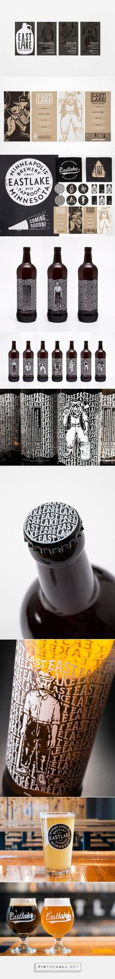 Eastlake Craft Brewery packaging branding on Behance by Rice Creative curated by Packaging Diva PD. Who wants a glass of beer now?