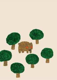 Bear by Japanese illustrator - Yusuke Yonezu