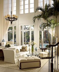 Two-story ceilings and white :)