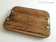 A DIY tray is easier (and cheaper) than you may think! Take one beat up cutting board (from your kitchen or the thrift store), add a small amount of TLC, and vo…
