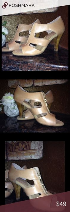 """Shoes are made for dancing! Adrienne Vittadini  Viktor, burnished goat. Heel 3 1/2"""", suede interior. Beautiful shoe. Have been tried on but not used.😒 New With Box. Price firm for quick sale I gave my best price. Adrienne Vittadini Shoes Sandals"""